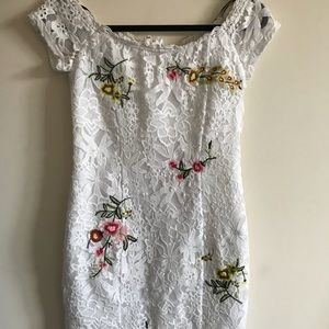 White floral day dress